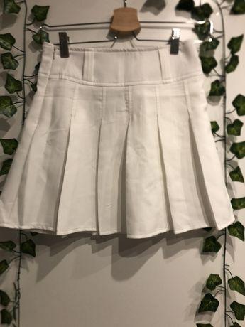 spódnica biała plisowana