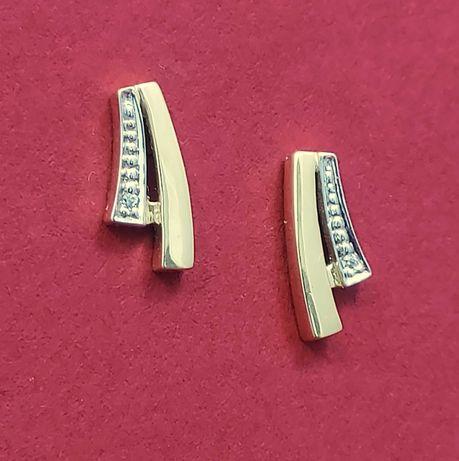 Śliczne złote kolczyki 1,4g próba 585
