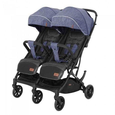 Прогулочная коляска для двойни CARRELLO Presto Duo CRL-5506 Blue Синий
