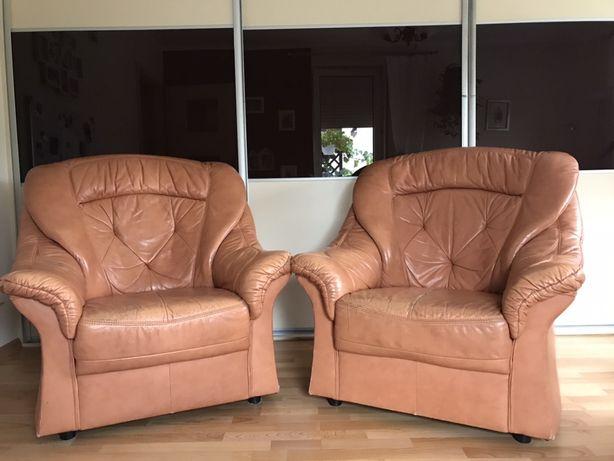 Wypoczynek rozkładany fotele kanapa SKÓRA Solidne