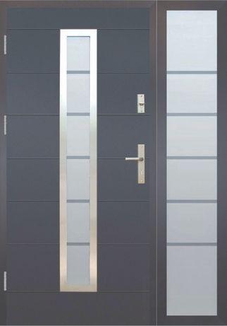 Drzwi wejściowe z naświetlem Wikęd Premium Termo 122,5 x 208 Wzór 12C