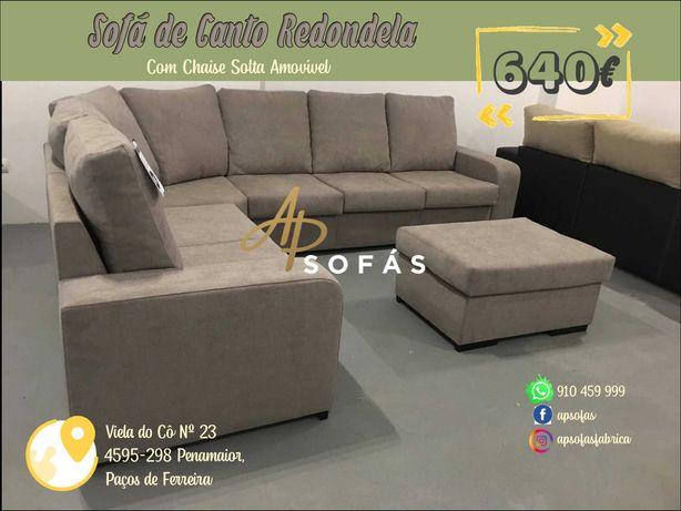 Sofá de Canto com Chaise Solta ou Mesa de Centro - Fábricantes