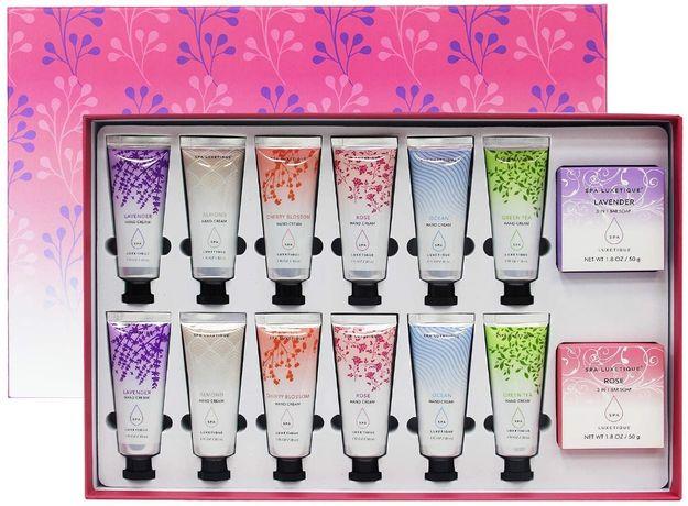 Подарочный набор 12 кремов для рук и мыла Spa Luxetique, Оригинал