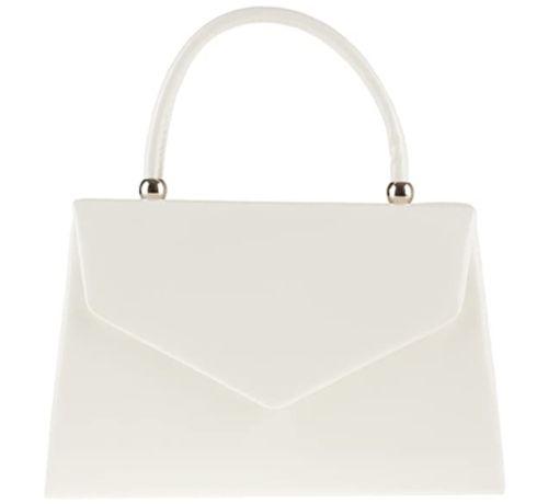 Ślubna torebka biała