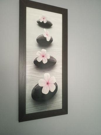 Dwa obrazy kwiaty - cena za sztukę 25 zł