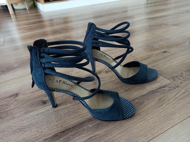 Sandały damskie na szpilce
