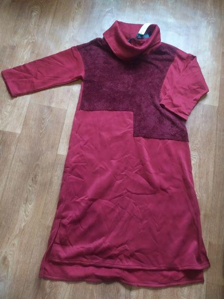 Теплое платье 50-54 размер с биркой новое