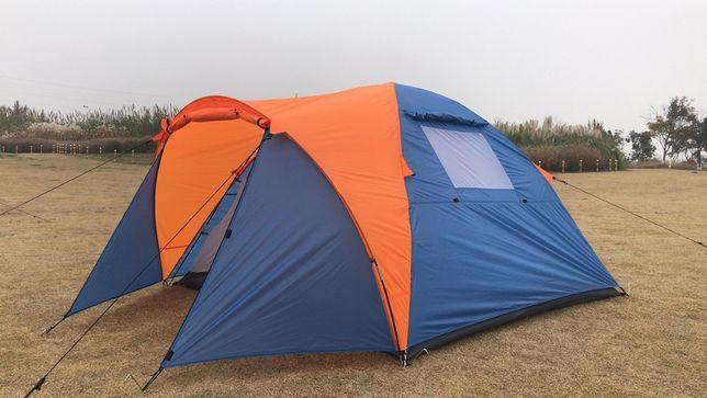Туристическая трехместная двухслойная палатка Coleman 1011 с тамбуром