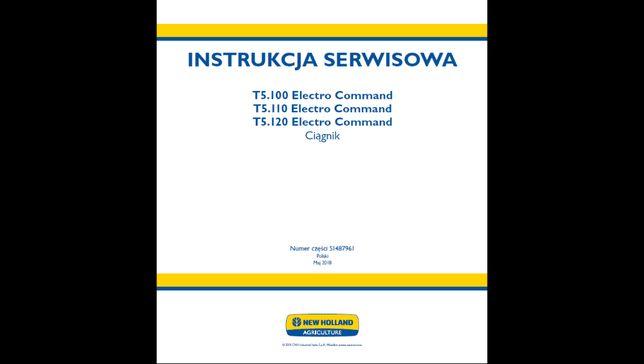 New Holland t5 .100, t5.110, t5.120 ec instrukcja napraw po Polsku!