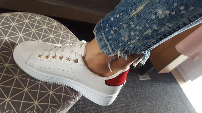 Buty białe tenisówki