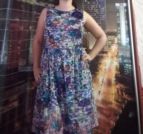 Платье сеточкой.