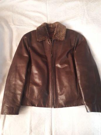 Кожаная мужская куртка OCHNIK