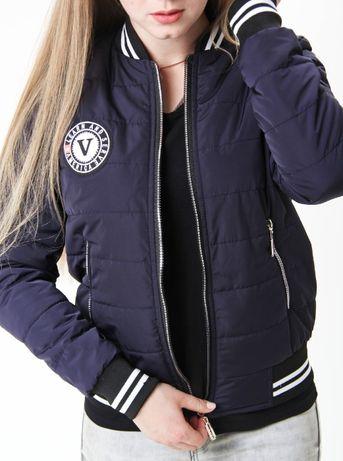 Женская куртка бомбер весна осень. Ветровка курточка теплая XS S M L