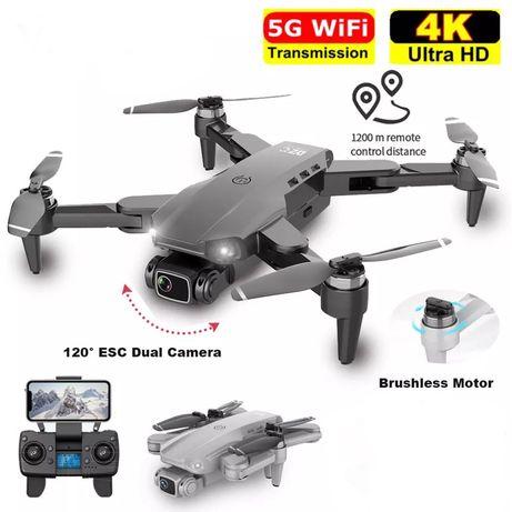Квадрокоптер L900 pro 4K Двойная камера БК мотори с GPS 5G WI-FI FPV б