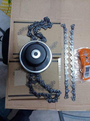 Cabeça de roçadora de corrente 12€temos correntes substituição par 5€