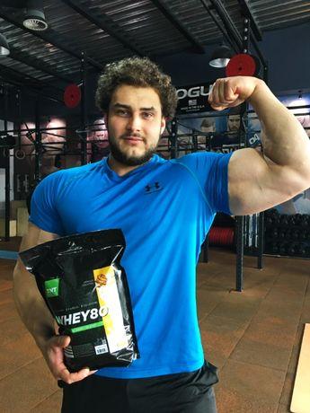 2кг Протеин 80% белка сывороточный (BANANA DONUT)