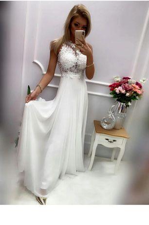 Suknia ślubna maxi 38
