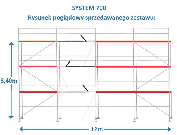 Rusztowanie ramowe- SYSTEM 700-OKAZJA 100m2