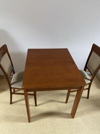 Stół drewniany + 2 krzesła drewniane