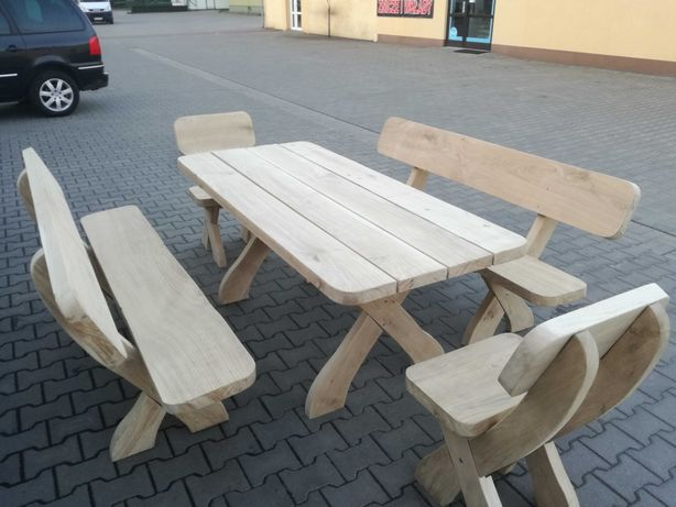 MEBLE OGRODOWE, DĄB, DĘBOWE, JESION, stół, ławki, krzesła... Transport