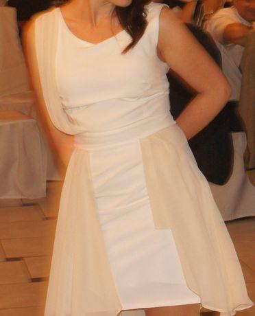 Asymetryczna sukienka wizytowa/na wesele S/M