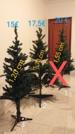 Arvores de Natal 1,55 cm/ 1,30 cm/ 1,20 cm