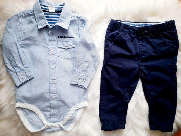 Koszula i spodnie Coco Club r.74, stan idealny