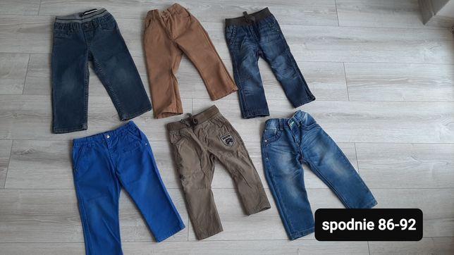 Spodnie jeansy 86-92