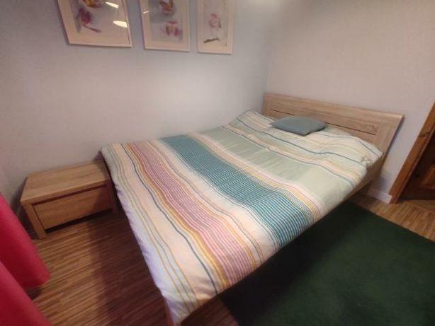 Łóżko 140 i 2 szafki nocne bąb sonoma