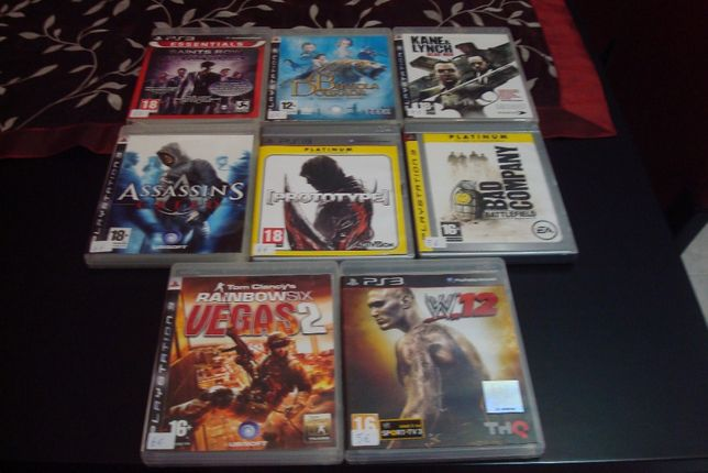 8 jogos originais ps3 ,tom clancy`s,