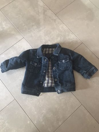УТЕПЛЁННАЯ джинсовая куртка на мальчика, 6-12 мес.