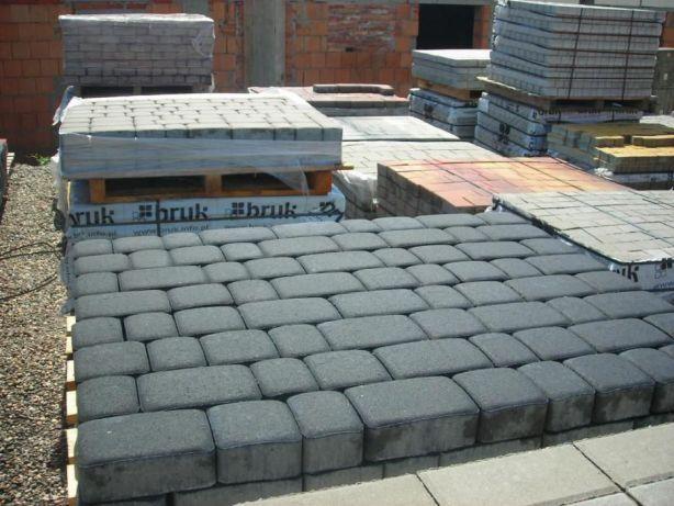 Kostka grafitowa 6cm Nostalit Starobruk brukowa betonowa piasek żwir