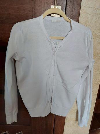Kardigan sweter h&m L 2 biały i czarny