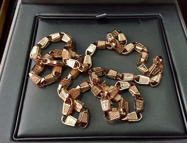 Золотая цепь, православная, 585. 40 грамм. Авторская работа.