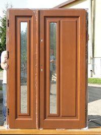 Drzwi drewniane SUROWE zewnętrzne dwuskrzydłowe