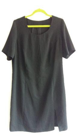 Czarna sukienka 40 L klasyczna prosta