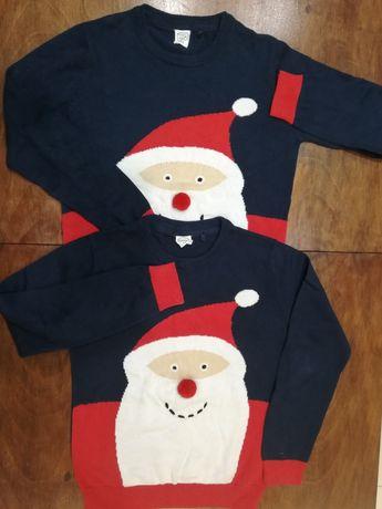 Sweter świąteczny z Mikołajem Cool Club 134 cm