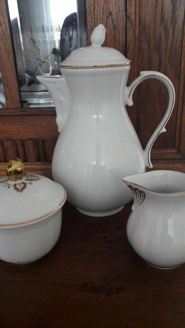 Dzbanek cukiernica i mlecznik porcelana niemiecka