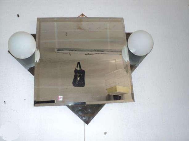 Lustro wiszące z kinkietami lampa ścienna do łazienki