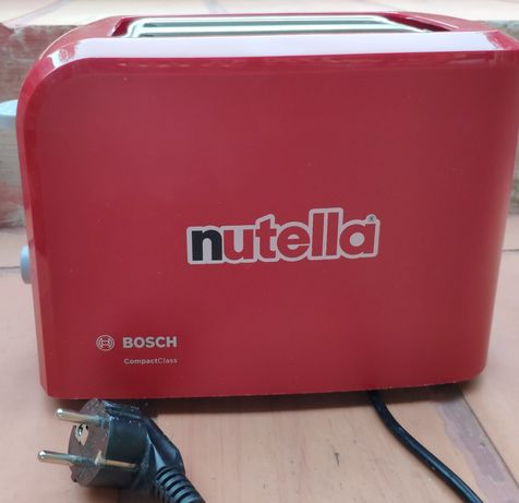 Torradeira vermelha da marca Bosch