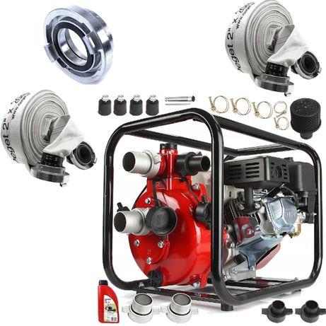 """Pompa motopompa ciśnieniowa spalinowa do wody 2"""" 600l/min 7KM 7BAR"""