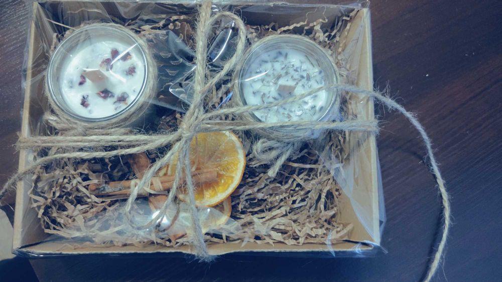 Zestawy świec na prezent z wosku sojowego i pczelego Szczecin - image 1
