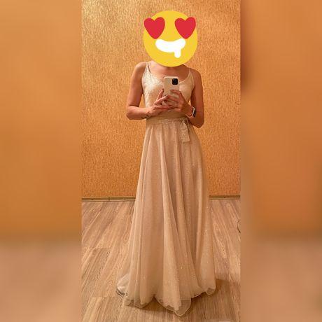 Платье вечернее, свадебное, нарядное, в пол