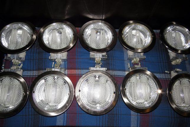 10 Candeeiros de encastrar em tecto falso e 20 lampadas 14w