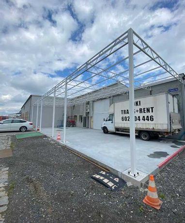 Konstrukcja skręcana wiata rolna garaż 24m x 8m Hala Magazyn Blaszak