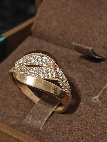 Wyjątkowy złoty pierścionek, złoto 585