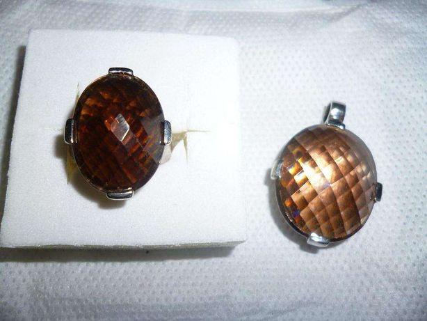 Pendente e anel em prata Georgio Martello