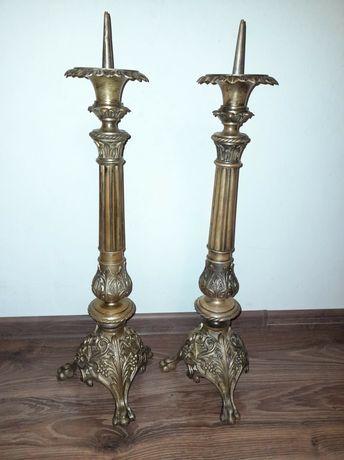 Stare świeczniki kandelabry