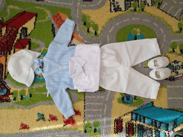 Ubranko do chrztu dla chłopca + buciki - rozmiar 62