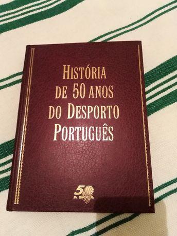 Livro da história dos 50 anos do desporto portugues